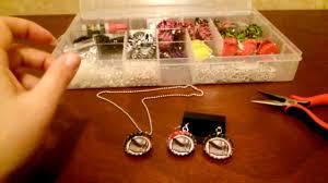 bottle cap necklaces wholesale how to make bottle cap earrings diy tutorial by shopbgd com