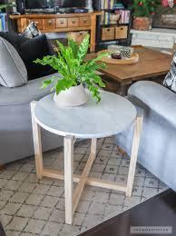 Marble Accent Table How To Build A Round Faux Marble Side Table