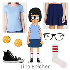 Homemade Nerd Halloween Costumes Diy Halloween Costume Tina Tinabelcher Bobsburgers Teen Blue