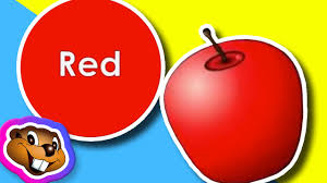 the apple is red clip kids children learn english songs