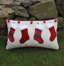 vezo home applique embroider christmas socks linen cotton sofa