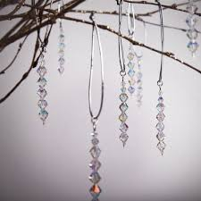 swarovski crystal drop handmade christmas decorations from rosie