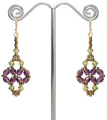 around the beading table printemps earrings