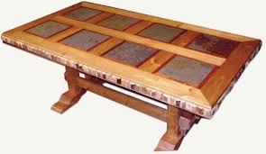 slate wood coffee table modern western furniture dining table