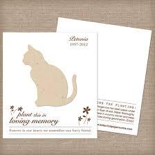 cat plantable memorial cards memorial cards catalog