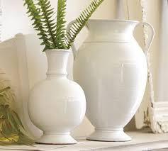 white vase rustic white vases pottery barn