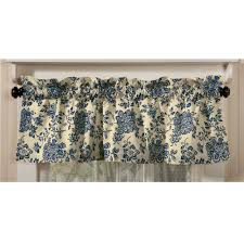 Blue Valance Curtains Valance Curtains Walmart Com Rollback Traditions By Waverly