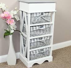 bathroom cool wooden storage unit with 3 maize baskets brown