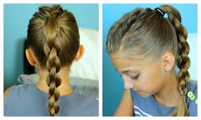 Cute Sporty Hairstyles Single Frenchback Into 3d Round Braid Easy Hairstyles Youtube