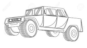 jeep vector ancient jeep drawing royalty free cliparts vectors and stock