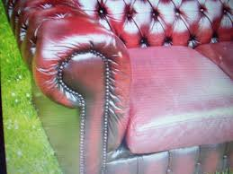 Leather Chesterfield Sofa Uk by Red Leather Sofa Bed Two Cushions Picclick Uk Idolza