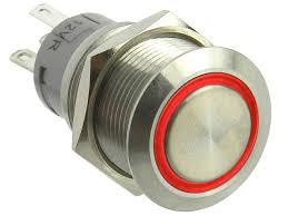 Spdt Lighted Push Button Switch Momentary 12vdc Red Mpja Com
