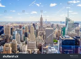 manhattan skyline aerial view manhattan skyline new york stock photo 407859094