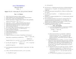 anna university probability and queuing theory question bank