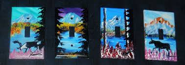 painted light switch covers hand painted wilderness scenes on light switch plates