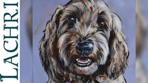 sd painting impressionistic dog portrait in acrylic demo by lachri you