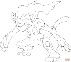 infernape pokemon coloring page free printable coloring pages