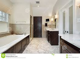 master bath with dark wood cabinetry stock photo image 18090220