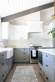 kitchen cabinets gray bottom white top 25 timeless grey and white kitchen designs digsdigs