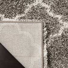 safavieh hudson shag collection sgh282b grey and ivory square area