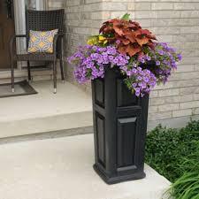 buy tall black planter from bed bath u0026 beyond
