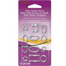 sculpey mini metal cutters geometric