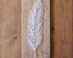 Country Home Wall Decor Feather Decor String Art Western Decor Southwestern