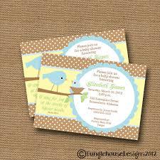 bird baby shower invitation baby boy shower invite