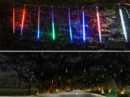 led meteor shower tube lights led 20cm led string lights meteor shower rain 8 tube xmas tree