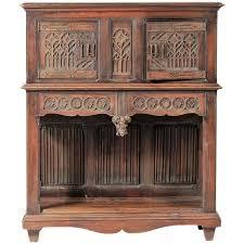 Oak Bar Cabinet 19th Century Belgian Carved Oak Dry Bar Cabinet Flemish Gothic