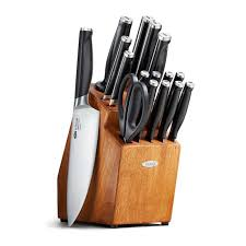 kitchen knives block set 17 piece knife block set oxo