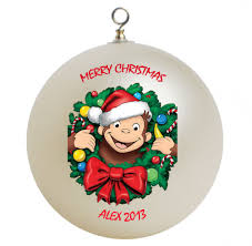 curious george personalized custom ornament customgifts