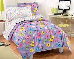 Purple Comforter Set Bedding Twin by Purple Butterfly Girls Bedding Twin Full Comforter Set Bed In A