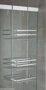 satina chrome hanging shower caddy shelf basket tidy hanging