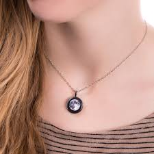 tone necklace images Full moon silver tone necklace phase 9 your moon phase jpg