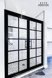 Black Shower Door Steel Framed Shower Doors With Black Bronze Anodized Finish And