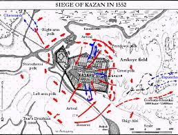 map of kazan siege of kazan in 1552 map