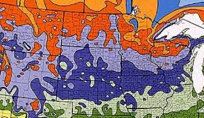 Us Zones For Gardening - usda plant hardiness zone map for north midwest us garden helper