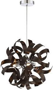Quoizel Ceiling Light Quoizel Rbn1512wt Ribbons Contemporary Western Bronze Xenon Drop