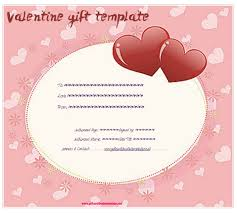 pink hearts gift certificate template gift certificates
