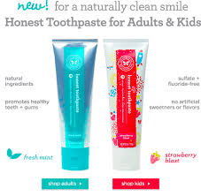 new honest company product and toothpaste hello