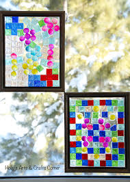 simple diy faux stained glass window home design image unique in