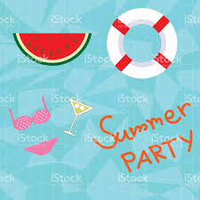 blue summer pool party background stock vector art 691867130 istock