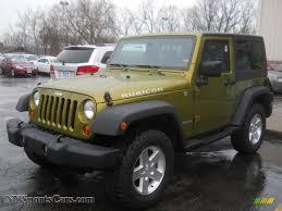 green jeep wrangler 2007 jeep wrangler rubicon 4x4 in rescue green metallic 189704