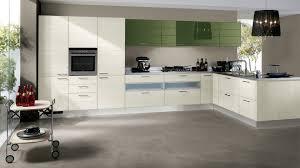 Shiny White Kitchen Cabinets Breathtaking Kitchen Design With Shiny White And Green Cabinet