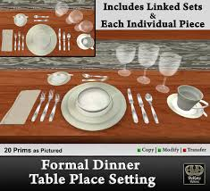 formal dinner table setting second life marketplace formal dinner table place setting
