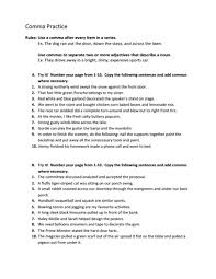all worksheets comma practice worksheets free printable