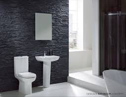 smart interior design modern small bathroom remodel ideas with luxury bathroom designs with awesome decorating ideas featuring comely black stone wall around attracttive white pedestal