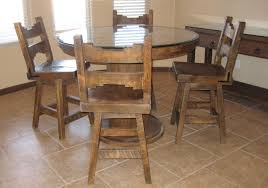 Table Ls Sets Glass Top Rustic Dining Table 4 Rustic Dining Chairs