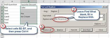 three ways to fill blank cells within excel spreadsheets